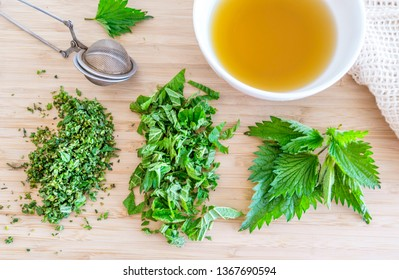 Tea infusion of Urtica dioica, (common nettle, stinging nettle or just a stinger)