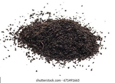 tea leaves isolated