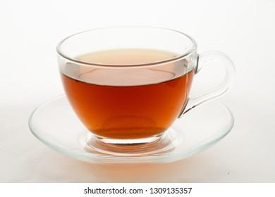 tea with lemon slice