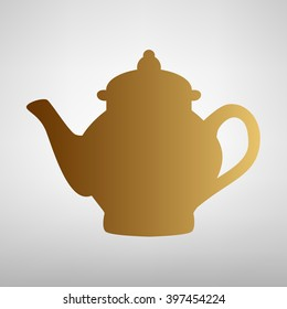 Tea maker sign. Flat style icon