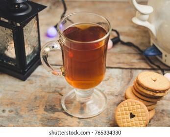 tea mug with cookies