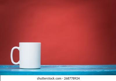 Tea, mug, red.