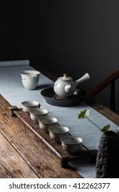 Tea on tea table
