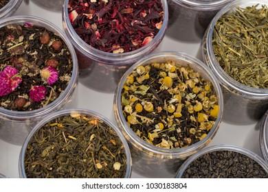 Tea on the white background