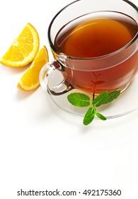 Tea with orange
