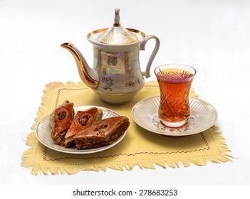 Tea party with baklava