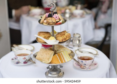 Tea Party with sandwiches