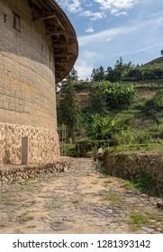 Tea plantations around Tulou at Unesco heritage site near Xiamen