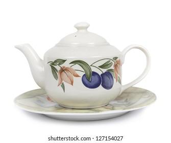 Tea pot isolated on white bcakground