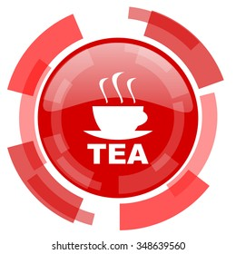 tea red glossy web icon