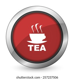 tea red icon hot cup of tea sign