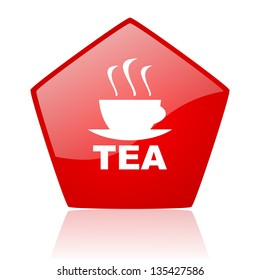 tea red web glossy icon