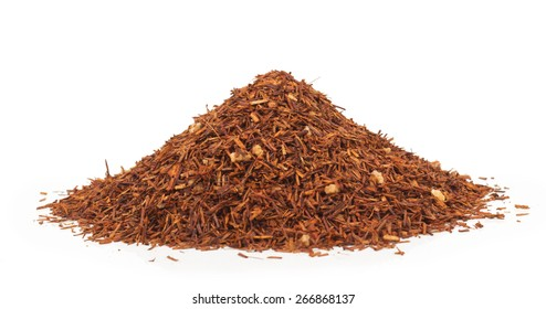 tea rooibos isolated on white background
