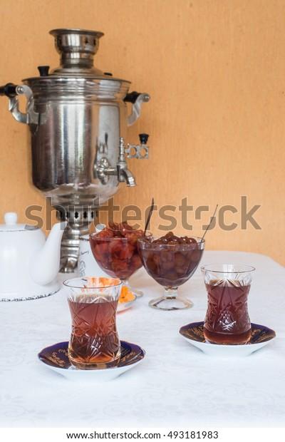 Tea with a samovar