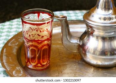 Tea served in district of Albaicin, Granada
