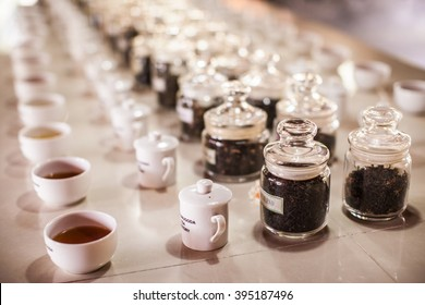 Tea tasting. Factory. Sri Lanka.