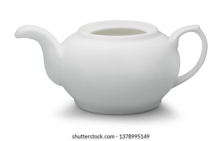 tea teapot isolated on white background