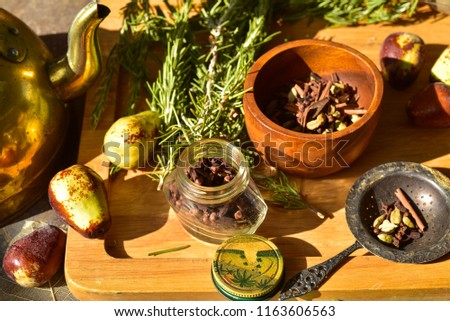 Tea Time Preparation Spices Whole Cloves Stock Photo Edit Now