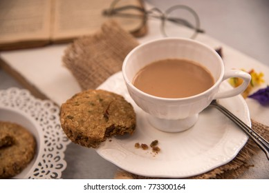 Tea time! Storytelling at its best. Chai and cookies, a perfect evening or morning snack. Shot in natural light.