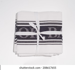 tea towel pack on white background