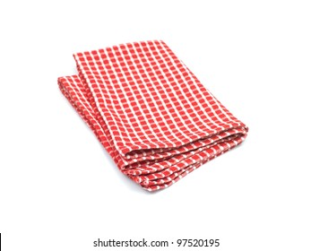 Tea towels isolated against a white background