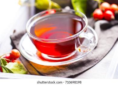 Tea vitamins freshness drink wooden background