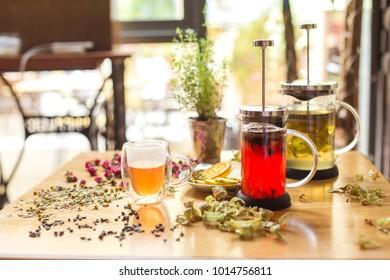 Tea with vitamins. Ingredients: linden, lemon and orange