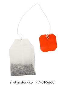 Teabag isolated on a white