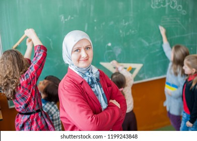 Teacher with her students