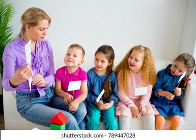 Teacher in kindergarten