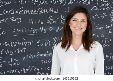Teacher at school in the classroom ready for work