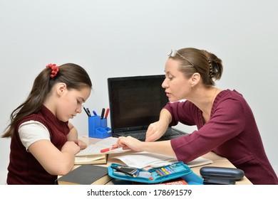 Teacher teaches teen girl