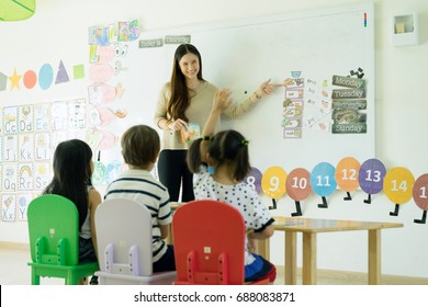 teacher teaching in class