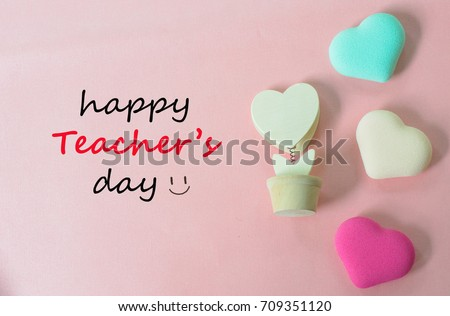 Teachers day concept greeting words handwriting stock photo edit teachers day concept greeting words handwriting happy teachers day with hearts symbols of love on m4hsunfo