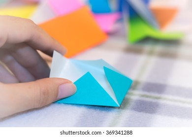 Teaching How to Make from Small Piece of Origami