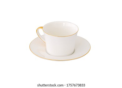 Teacup or Tea Cup Made with Ceramic Isolated on White Background
