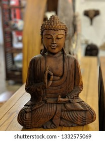 Teak Buddha from Indonesia