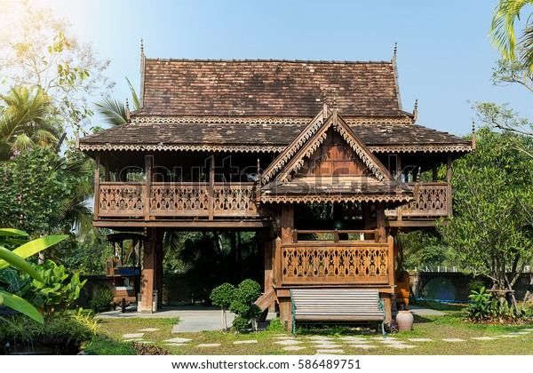Teak House Old Thai Ancient Teak Stock Photo Edit Now