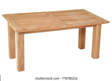 Teak table garden furniture, Teak garden furniture in white background