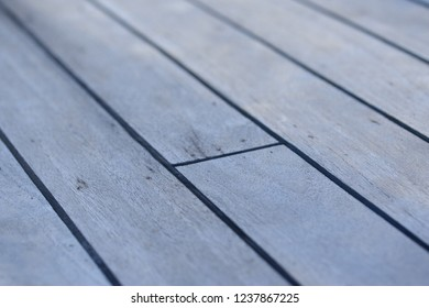 Teak Wood Deck detail on a traditional Indonesian Phinisi Sail Boat