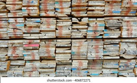 Teak wood lumber stack