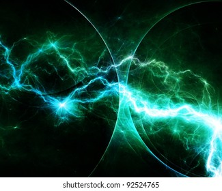 Teal abstract lightning