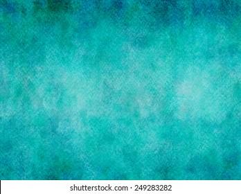 Teal Aqua Blue Watercolor Paper Colorful Texture Background