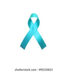 Teal awareness ribbon for Anti Bullying Awareness,Scleroderma, ovarian cancer, food allergies,Panic Disorder, tsunami victims, kidney disease, sexual assault symbol.