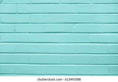 Teal brick concrete wall background texture