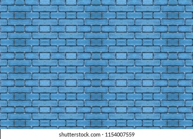 Teal brick wall background in rural room,