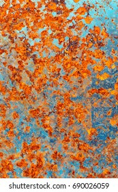Teal and orange rust texture background for your design