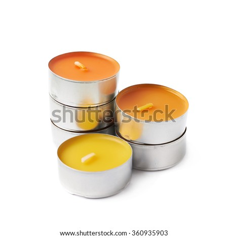 Tealight Paraffin Wax Candle Isolated Stock Photo (Edit Now