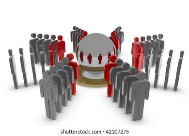 Team around the mirror sphere