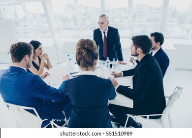 Team of business experts working together on new project